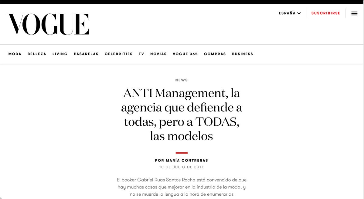 Vogue Spain, 2017